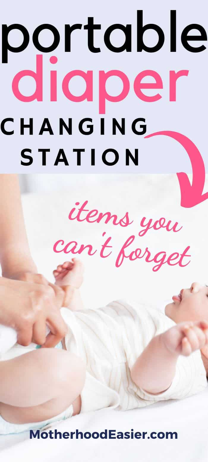 portable diaper changing station must-haves