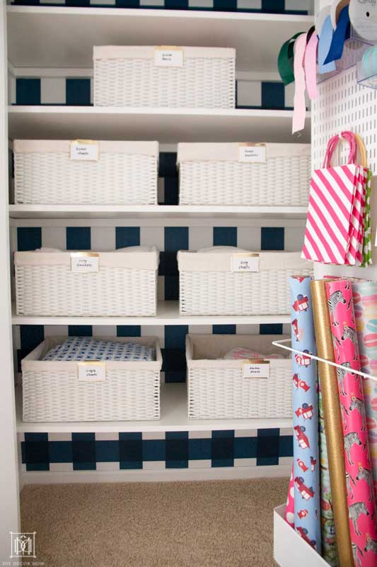 organize your linen closet to get ready for baby's arrival