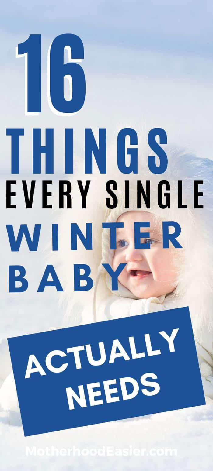 winter baby must-have items