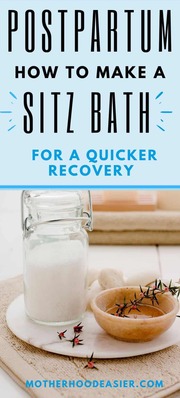 Postpartum Sitz Bath Recipe